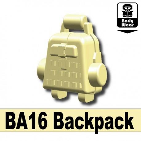 Lego Accessoires Minifig Custom SIDAN TOYS Sac à dos BA16 (Tan) (La Petite Brique)