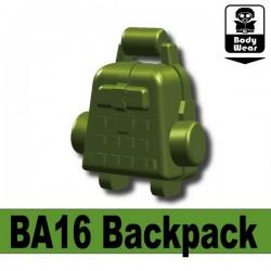 Lego Accessoires Minifig Custom SIDAN TOYS Sac à dos BA16 (Vert Militaire) (La Petite Brique)