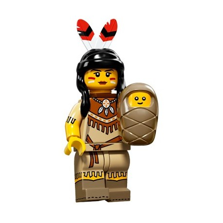 Lego Minifig Serie 15 71011 - la femme tribale (La Petite Brique)