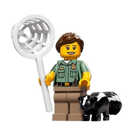 Lego Minifig Serie 15 71011 - l'agent de contrôle des animaux (La Petite Brique)
