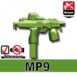 Lego Accessoires Minifig Custom SIDAN TOYS MP9 (Vert Militaire) (La Petite Brique)