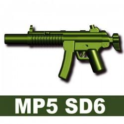 Lego Accessoires Minifig Custom SIDAN TOYS MP5 SD6 (Vert Militaire) (La Petite Brique)