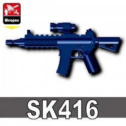 Lego Accessoires Minifig Custom SIDAN TOYS HK-416 SK416 (Dark Blue) (La Petite Brique)