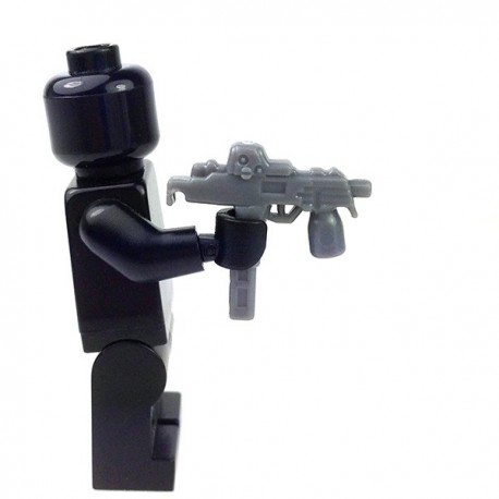 Lego Accessoires Minifig Custom SIDAN TOYS MP9 (Dark Bluish Gray) (La Petite Brique)
