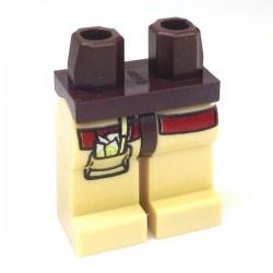 Lego Accessoires Minifig Jambes (Dark Tan), poche avec stylo et papier (Dark Brown) (La Petite Brique)
