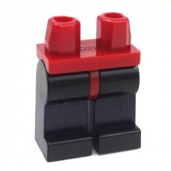 Lego Accessoires Minifig Jambes noires (Dark Red) (La Petite Brique)