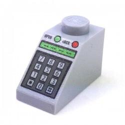 Lego Accessoires Minifig Clavier numérique, pièce incurvée 45 2 x 1 (Light Bluish Gray) (La Petite Brique)