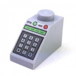 Slope 45 2 x 1 with Green & Red Buttons & Keypad (Light Bluish Gray)