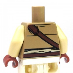 Lego Accessoires Minifig Torse gilet avec trois poches (Dark Tan) (La Petite Brique)