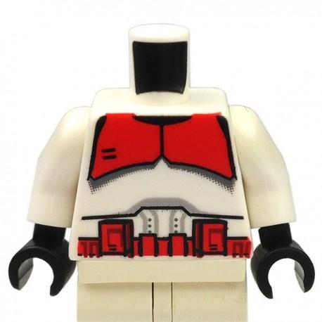 Lego Accessoires Minifig Torse Star Wars Clone Trooper, marquages rouges (La Petite Brique)