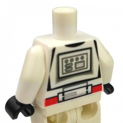 White Torso SW Armor Clone Trooper with Red Mark 'Shock Trooper', Black Hands