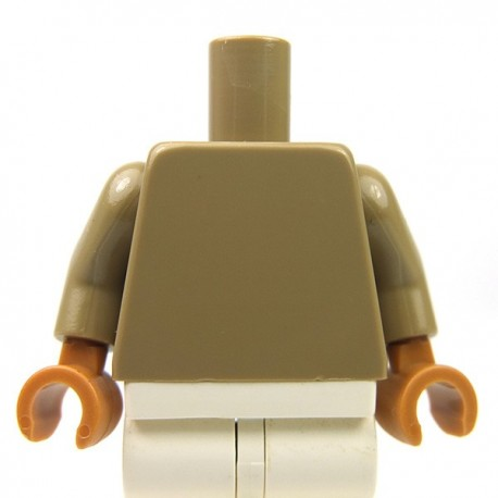 Lego Accessoires Minifig Torse, mains Medium Dark Flesh (Dark Tan) (La Petite Brique)