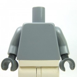 Light Bluish Gray Torso Plain, Light Bluish Gray Arms, Dark Bluish Gray Hands