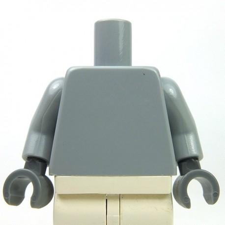 Lego Accessoires Minifig Torse, mains Dark Bluish Gray (Light Bluish Gray) (La Petite Brique)