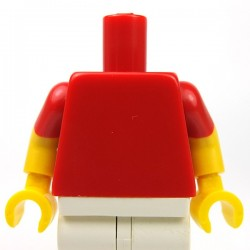 Red Torso Plain, Yellow Arms with Red Short Sleeves, Yellow Hands