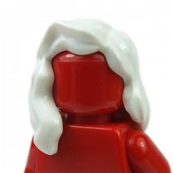 Lego Accessoires Minifig Cheveux mi-long qui retombe sur l'épaule droite (Blanc) (La Petite Brique)