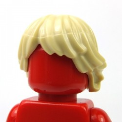 Tan Minifig, Hair Tousled and Layered