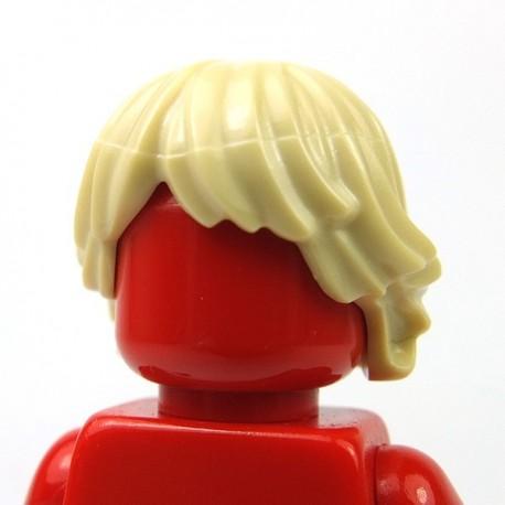 Lego Accessoires Minifig Cheveux ébouriffés aplatis (Tan) (La Petite Brique)