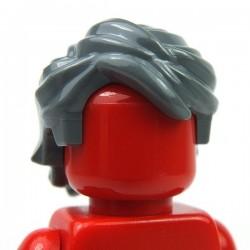 Lego Accessoires Minifig Cheveux balayés ébouriffés (Dark Bluish Gray) (La Petite Brique)