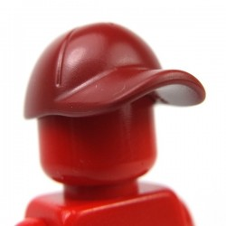 Lego Accessoires Minifig Casquette (Dark Red) (La Petite Brique)