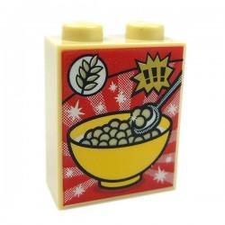 Lego Accessoires Minifig Boite de Céréales, Brique 1x2x2 (Tan) (La Petite Brique)