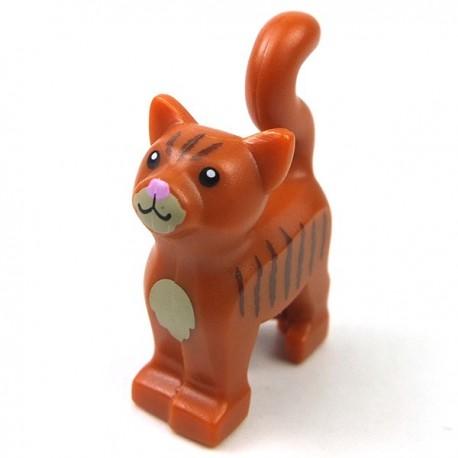 Lego Accessoires Minifig Chat (Dark Orange) (La Petite Brique)