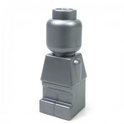 Lego Accessoires Minifig Statuette Microfig (Flat Silver) (La Petite Brique)