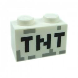 Lego Accessoires Minifig TNT Brique 1 x 2 (Blanc) (La Petite Brique)