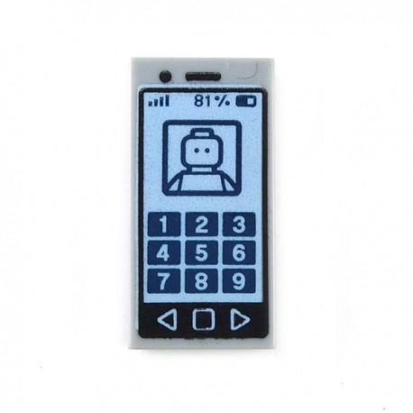 Lego Accessoires Minifig Smartphone - Tile 1 x 2 (Light Bluish Gray) (La Petite Brique)