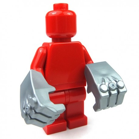 Lego Accessoires Minifig Minifig, Mains géantes (Flat Silver) (La Petite Brique)