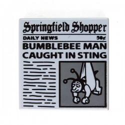 Lego Accessoires Minifig Tile 2x2 Journal 'Springfield Shopper' (Light Bluish Gray) (La Petite Brique)