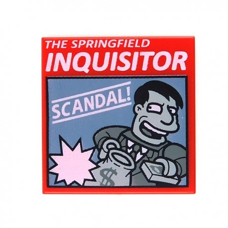 """Red Tile 2x2 """"THE SPRINGFIELD INQUISITOR"""""""
