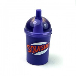 Dark Purple Minifig, Utensil Cup, Dome Lid Cup & Straw 'SQUISHEE'