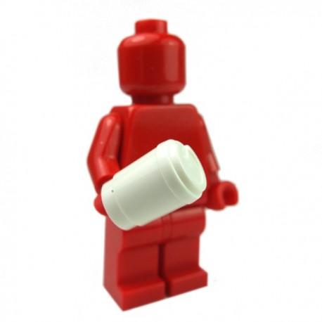 Lego Accessoires Minifig Tasse Café à emporter (Blanc) (La Petite Brique)