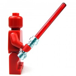 Lego Accessoires Minifig Sabre laser rouge (Metallic Silver) (La Petite Brique)