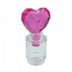 Lego Accessoires Minifig Flacon avec couvercle en forme de Coeur (Trans-Dark Pink) (La Petite Brique)
