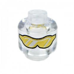 Lego Accessoires Minifig Tête transparente avec lunettes (La Petite Brique)