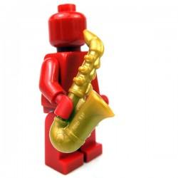 Lego Accessoires Minifig Saxophone (Pearl Gold) (La Petite Brique)