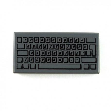 Computer Keyboard - Tile 1x2 (Dark Bluish Gray)