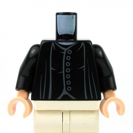 Lego Accessoires Minifig Torse - 7 boutons (noir) (La Petite Brique)
