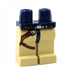Lego Accessoires Minifig Jambes avec ceinture (Dark Blue/Tan) (La Petite Brique)