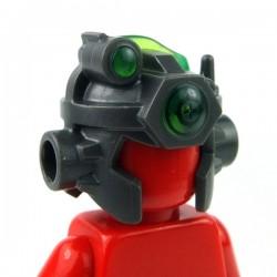 Lego Accessoires Minifig Casque avec antenne, viseur (Pearl Dark Gray) (La Petite Brique)