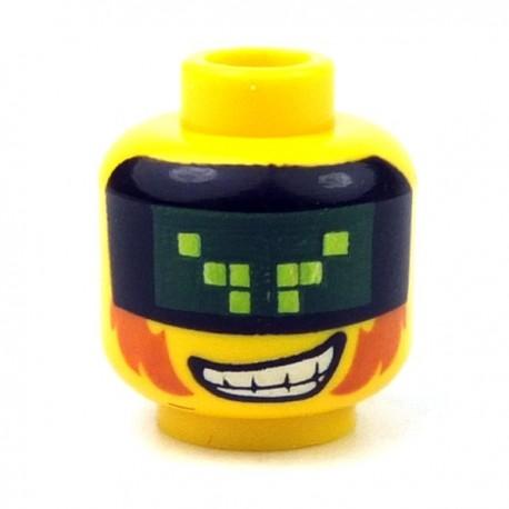 Lego Accessoires Minifig Tête masculine jaune, 69 (La Petite Brique)