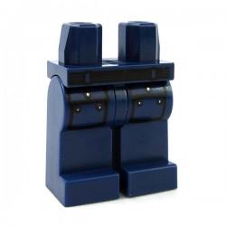 Lego Accessoires Minifig Jambes - ceinture noire, 2 poches (Dark Blue) (La Petite Brique)