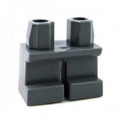 Lego Accessoires Minifig Jambes courtes (Dark Bluish Gray) (La Petite Brique)