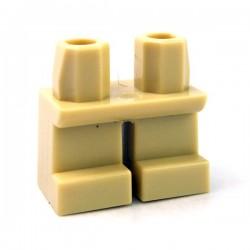 Lego Accessoires Minifig Jambes courtes (Tan) (La Petite Brique)