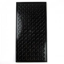 Lego Accessoires Minifig Tile 8x16 pistes du SHIELD (Noir) (La Petite Brique)