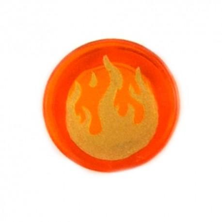 Lego Accessoires Minifig Tile Rond 1x1 - Flammes (Trans-Orange) (La Petite Brique)
