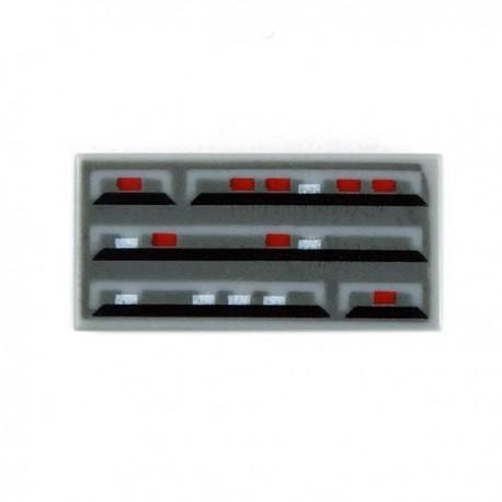 Lego Accessoires Minifig Tile 1x2 - Star Wars Computer (Light Bluish Gray) (La Petite Brique)