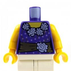 Lego Accessoires Minifig Torse - avec des fleurs (Dark Purple) (La Petite Brique)
